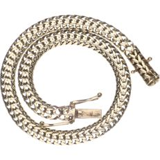 14 kt yellow gold plated curb link bracelet - length: 19.5 cm