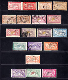 France 1900 - Complete series Merson Type and Mouchon Type. Yvert 119 and 208.