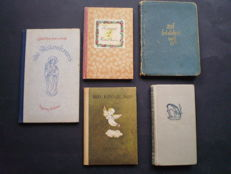 Piet Worm; Lot with 4 prayer booklets with illustrations by Piet Worm - 1941 / 1947