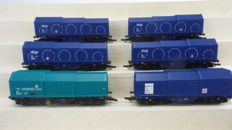 Roco H0 - 44059/46516.1/47428 - Set with six coil carriages of NS