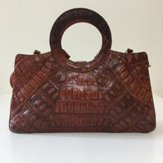 Vintage Real Crocodile Leather – Handbag / Shoulder Bag *** No minimum price***