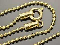 18k Gold Necklace. Chain - 45 cm • Bead •
