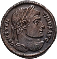 Roman Empire -  Constantinus I the Great AD 306-336. Arles Follis Æ