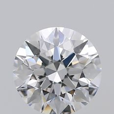 Round Brilliant Diamond 0.53 Carat , D IF, 3EX  Cert: GIA  #TW1808 -original image