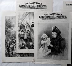 Over 30 prints by various artists - Collection prints from the Illustrated London News - 19th century