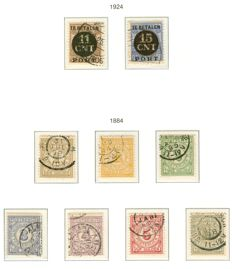 The Netherlands 1884/1924 – Postal order stamps and Postal parcel postage due stamps – NVPH PV1/PV2 + PW1/PW7.