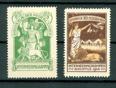 Netherlands 1916 - Internment stamps - NVPH IN1 + IN2