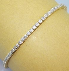 Tennis bracelet set with 91 diamonds - 2.50 ct in total - ###jewellery certificate included -- Free Shipping -- Low Minimum price###