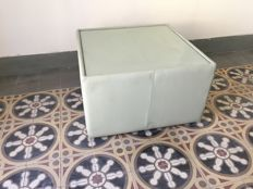 Designer Unknown - Glass Top Leather Covered Coffee Table