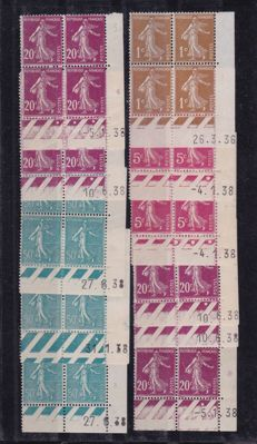 "France - Composition from various periods: Stamp booklets, sheet, series ""coin dates"""