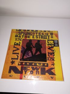 Very Rare Lp Bruce Springsteen & The E Street Band /Live In N. Y.C. 2001 Signed by Nils lofgren