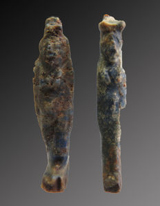 Egyptian Lapis Amulets of Isis and Sekhmet - 28-29 mm (2).