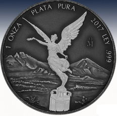 Mexico - 1 oz Libertad Goddess of Victory - antique finish - 999 silver / silver coin - First Libertad in antique finish