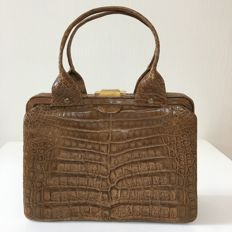 Vintage Real Crocodile Leather – Handbag  *** No minimum price ***