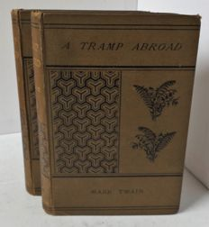 Mark Twain - A Tramp Abroad - 2 Volume set - 1880.