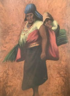 Unknown artist - Peruvian character (?) - 19/20th century