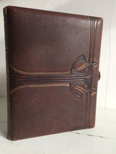 Antique Art Nouveau photo album presumably around 1900
