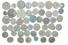 Roman Empire - Lot of 50 Coins for cleaning (2nd - 4th C AD)13-27mm (50)
