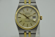 Rolex OysterQuartz Datejust Ref. 17013 Gold/Steel Sapphire Glass Men's Watch