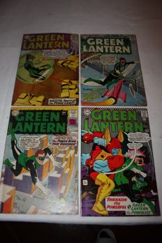 Collection Of X4 Vintage - DC Comics - Green Lantern Comics - Issues #3, 4, 5 and #50 - Silver age - (1960/1967)