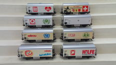 Märklin H0 - 4400/4415/84414 - 8 different refrigerated carriages of the DB.