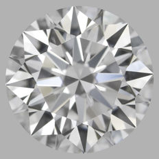 Round Brilliant Diamond 0.55 Carat , D IF, 3EX  Cert: GIA  #2161 -original image