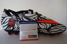 Unique Nike Hypervenom Neymar 2016 Soccer Cleat Zebra Boot Neymar Jr Autographed with PSA / DNA COA Alegria Barcelona to PSG Team Football