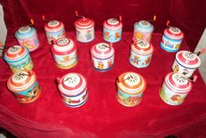 15 tin music boxes, play boxes, collectable collection