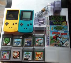 2 Gameboy color systems including 8 games like Wendy.