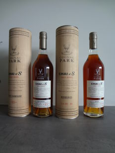 Cognac Park Single Barrel Chai n°8 Borderies + Chai n°8 Petite Champagne, 2 bottles