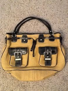 Michael Kors Straw Patent Satchel Purse ***No minimum price***