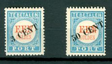 The Netherlands 1906/1910 - postage due with overprint - NVPH P27/P28