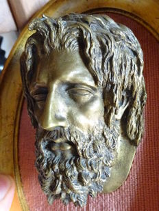 Christophe Fratin (1801-1864) - head of Christ in bronze - France - middle of the 19th century