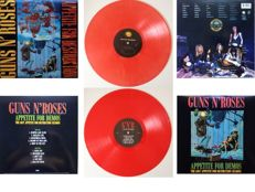 "Guns 'N' Roses  Set Of Two LP's  ""Appetite For Destruction""  &  ""Appetite For Demos / The Lost Appetite For Destruction Sessions"""