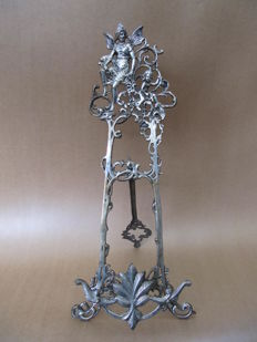 Art Nouveau silver-plated (book) standard with Angel