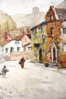 Henry Hadfield Cubley (1858-1934) - Village scenes