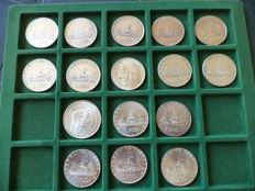 Republic of Italy - 1000 and 500 lire from different years (16 coins) - silver