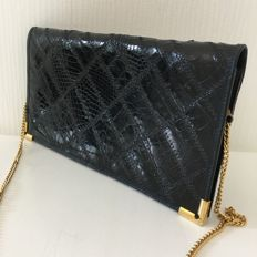 Vintage Real Snake and Crocodile Leather – Clutch Bag