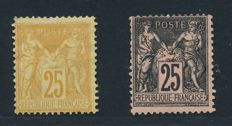 France 1876/86 - Collection lot of  Sage Type II   - Yvert 92 et 97