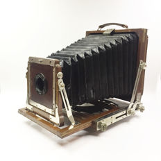 Circa 1940-50s Vintage Large Format Bellow Camera from Japan