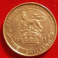 Great Britain - rare Shilling - 1905 silver