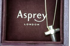 Asprey & Co - Sterling silver necklace with cross pendant, London 2006