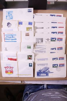 The Netherlands 1952/1990 – Batch of FDCs and covers in moving box