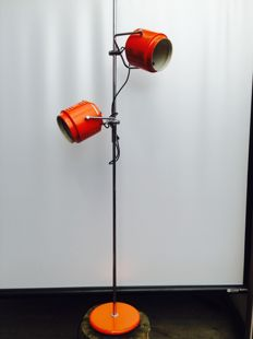 Designer unknown - Vintage floor lamp with two spotlights