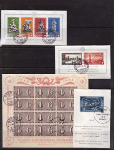 Switzerland 1940/1945 - Four blocks - Michel block 5, 7, 9 and 11