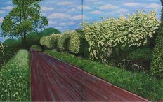 David Hockney - Hawthorn Blossom Near Rudston