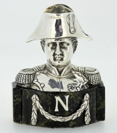 Napoleon - Antique French silver bust - 19th Century - London Import 1912, Berthold Hermann Muller