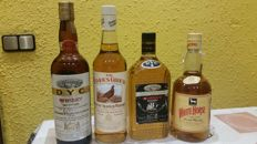 4 bottles -  White Horse, Famous Grouse, DYC Whiskey