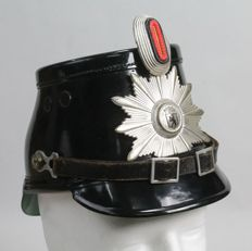 Old helmet of the German police in Berlin