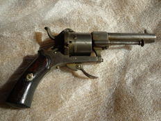 Pin fire revolver Lefaucheux, Belgian, circa 1860, cal. 7mm with pin n°1